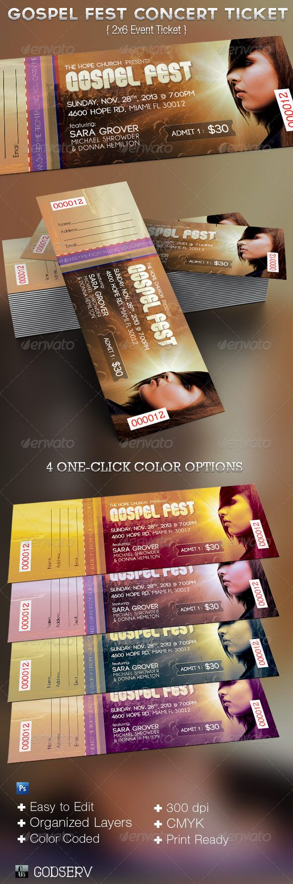 Concert Ticket Template Free Download New 14 Best Layoutstext And Images Images On Pinterest  Brochures .