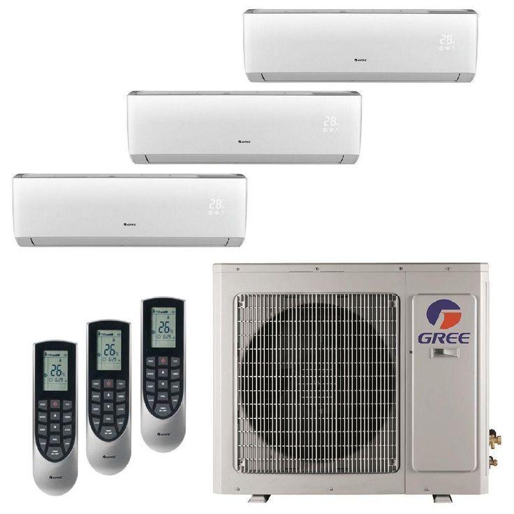 Multi-21 Zone 24,000 BTU 2 Ton Ductless Mini Split Air Conditioner with Heat, Inverter, Remote - 208-230-Volt/60Hz, Beige/Bisque