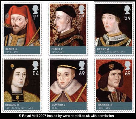 House of Lancaster & Yorks: Kings Henry IV, Henry V,  	Henry VI, Edward IV, Edward V, & Richard III.