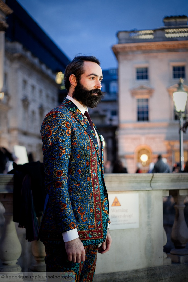 Dent de man #menswear #suit #tailored to perfection - London Fashion Week - #streetstyle #lfw a/w 2013 #somersethouse - #photography by Frederique Rapier