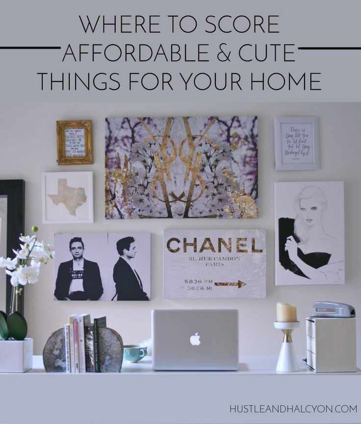 Where to Find Cheap & Cute Home Decor | Hustle + Halcyon