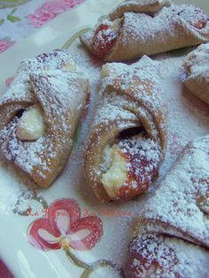 Quesitos ~Puerto Rico. Filled with guava and sweetened cream cheese. Latin American Cuisine Cooking Class. Not only popular in Puerto Rico, but many Latin American countries have their own version of this delicious pastry dessert.
