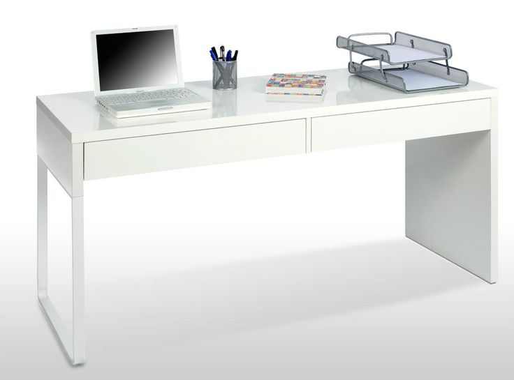 Details about Milan White Gloss Computer Desk Workstation   Dresser unit   Office  furniture. 58 best Salon decor images on Pinterest