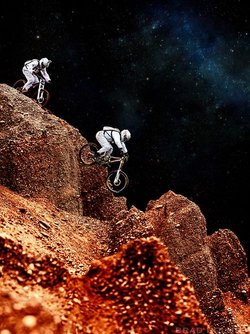 Vamos allá!  If only we could take our MTBs to Mars...