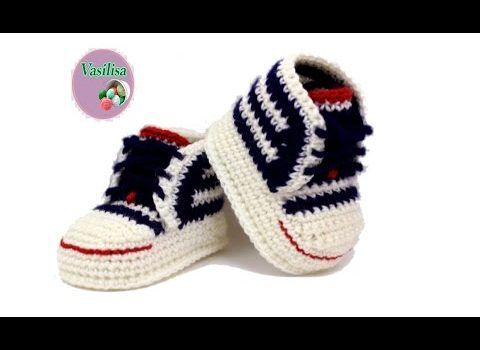 This is by far one of the most wonderful converse shoes for babies patterns and designs!Every step in this video tutorial is documented with written instructions and this makes the all process of crocheting these cuties very easy. The shoes demonstrated in the video are 9.5 cm long x 5.5 cm wide. The Brilliant Baby …