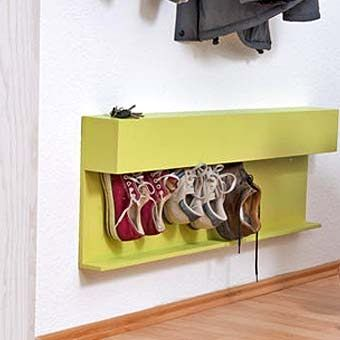 подвесная полка для обуви со щетками