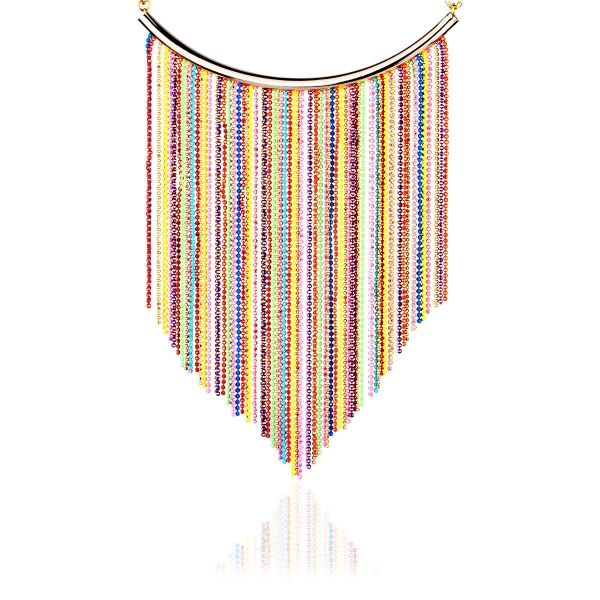 Renkli Zincir Kolye #kolye #renkli #moda #rengarenk #fashion #woman #accessories #necklace #colourful