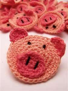 .. Crochet Pig | Crochet Pigs | Crochet Animals | Crochet Embellishment--- For my mom