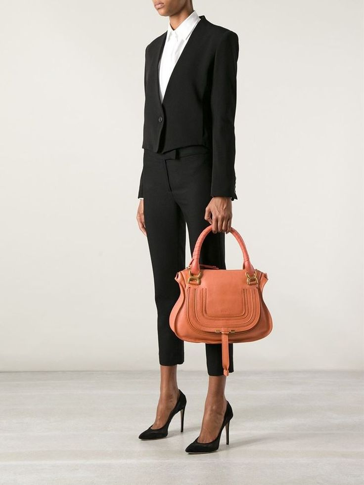 New aw2015 chloe\u0026#39; marcie tote medium tan porte epaule shoulder ...