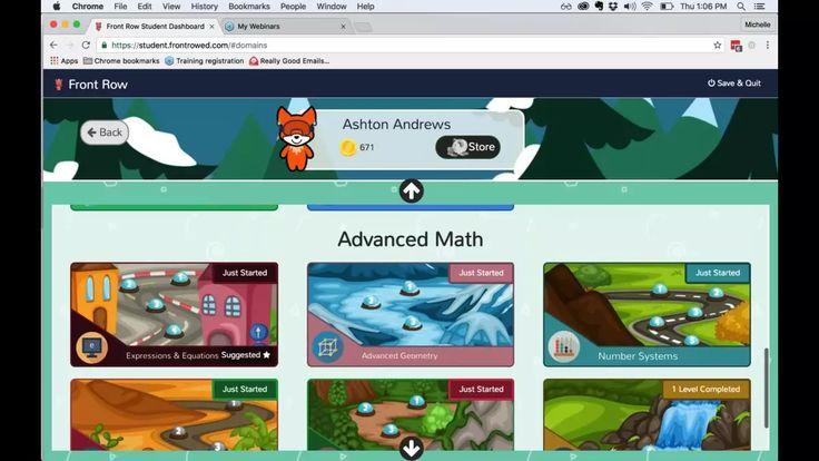Front Row Math virtual training on Vimeo