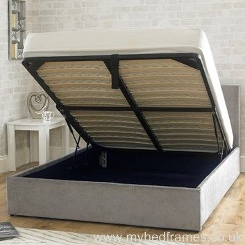 Stirling fabric bed frame with ottoman #storage - #bedroom