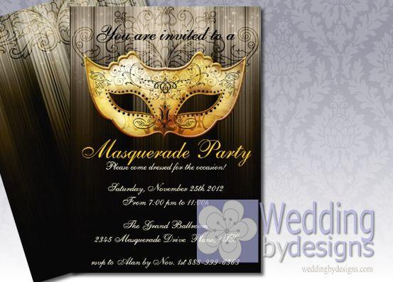 Masquerade Wedding Invitation