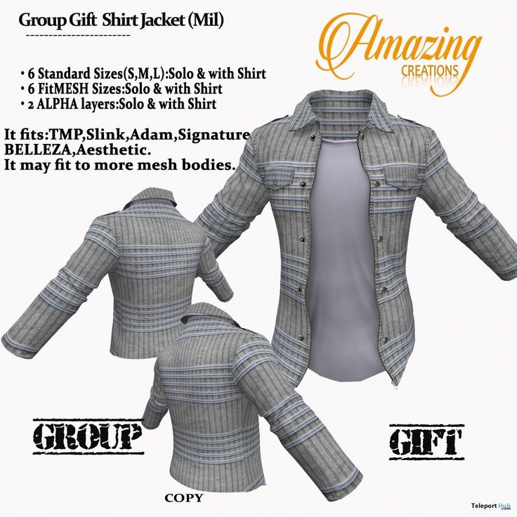Jacket With Shirt November 2017 Group Gift by AmAzIng CrEaTiOnS