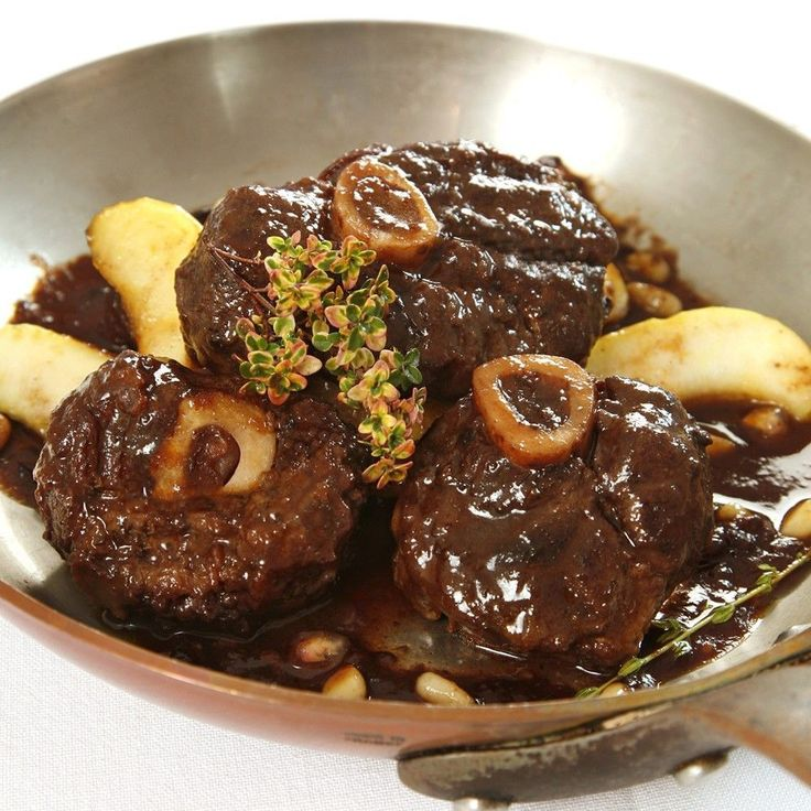 Venison shanks are substituted for the traditional veal shanks in this classic Italian dish