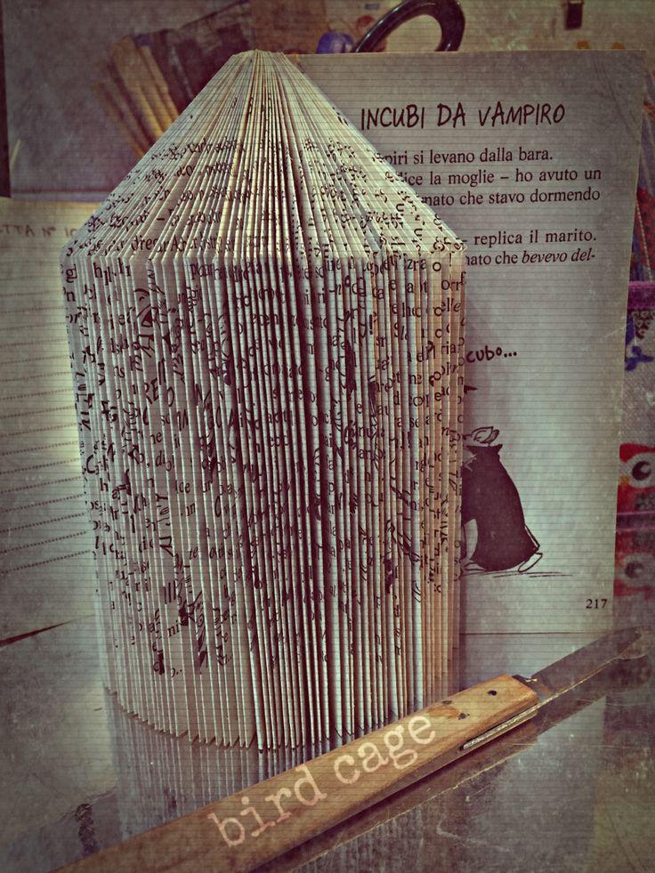book folding  bird cage