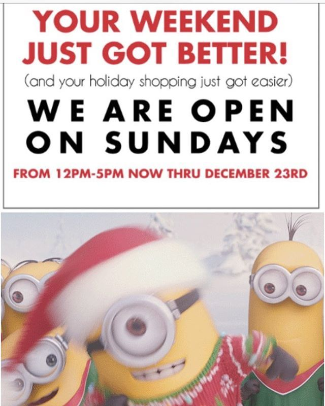 Open Sundays Your Weekend Just Got Better And Your Holiday
