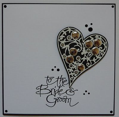 Bubble Heart wedding card - could be used for many occasions with a different sentiment
