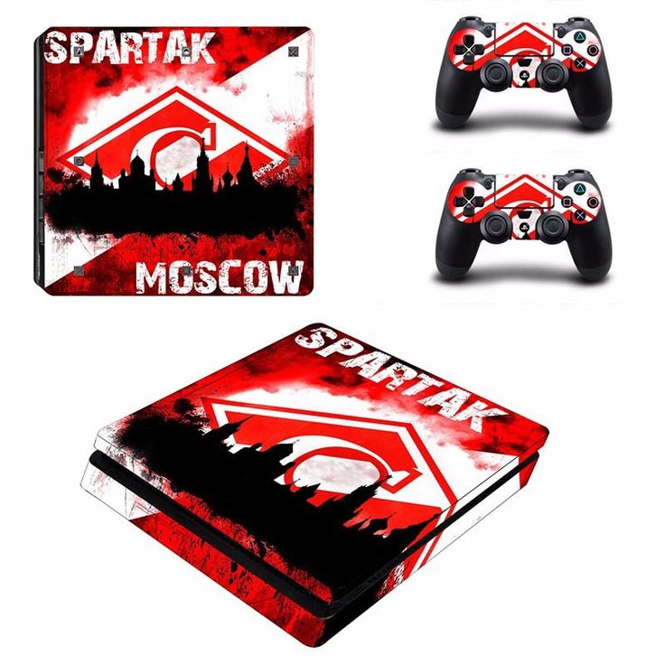 Football Club Spartak Moscow For PS4 Slim Skin Stickers Protector for Sony PlayStation 4 Slim Console + 2 Controller Skins