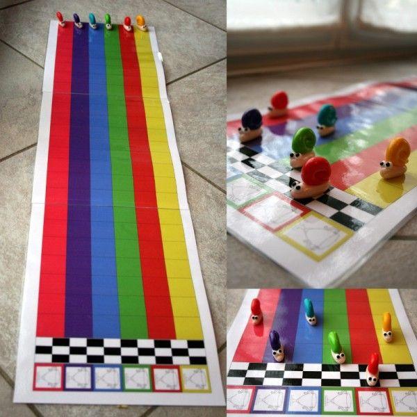 slakkenspel, free printable - jeux escargots