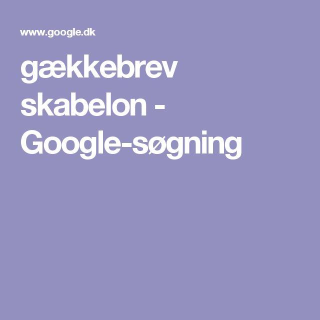gækkebrev skabelon - Google-søgning