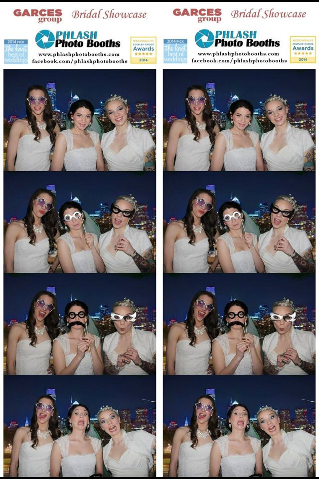 Check out these beautiful models in Nicole Miller! Thanks Garces Group for having PHLASH at your bridal showcase! www.phlashphotobooths.com www.facebook.com/phlashphotobooths
