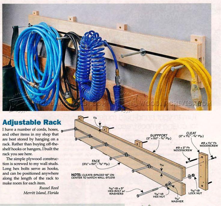 Adjustable Rack Plans - Workshop Solutions Projects, Tips and Tricks | WoodArchivist.com