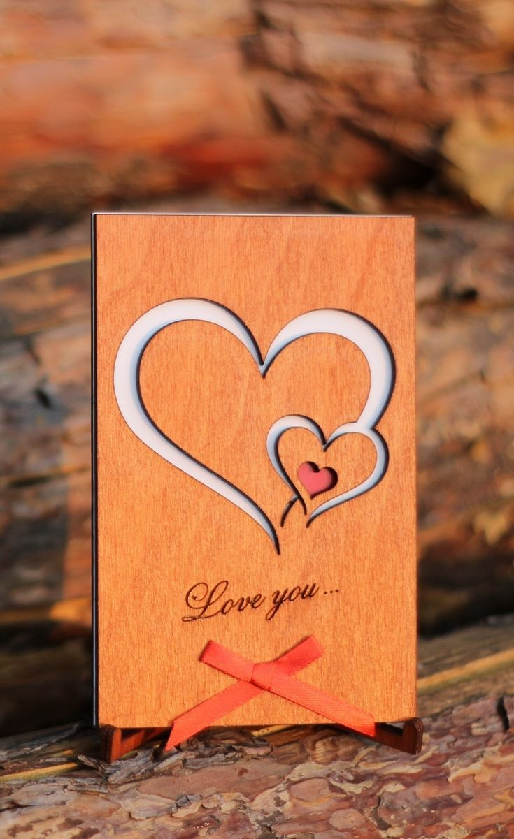 Love Cards Wood Anniversary Card Valentine Day Gift 5 Year 5th