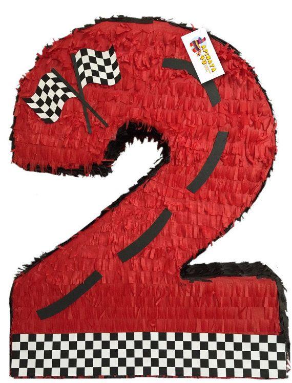 Number Two Pinata Race Car Theme Race Car Birthday Party Cars Theme Birthday Party Race Car Birthday
