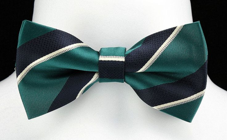 New Green & Navy Mens Bow Tie Adjust Necktie Tuxedo Prom Wedding Fashion Bowtie #TiesJustForYou #BowTie