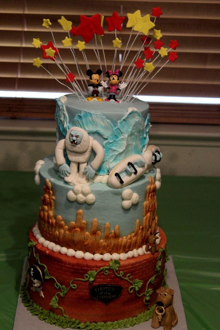 Disneyland Cake Images : Disneyland cake--The Matterhorn, Big Thunder Railroad, and ...