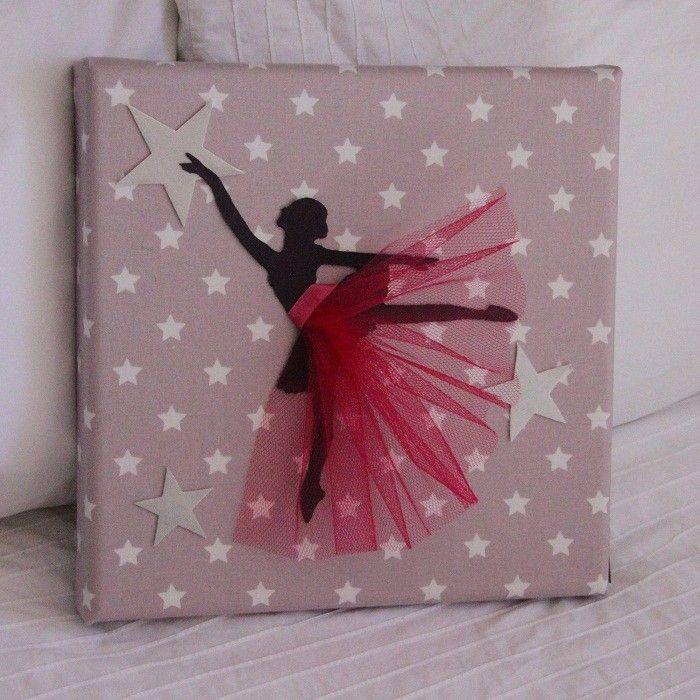 Tableau Danseuse Tutu Vieux rose