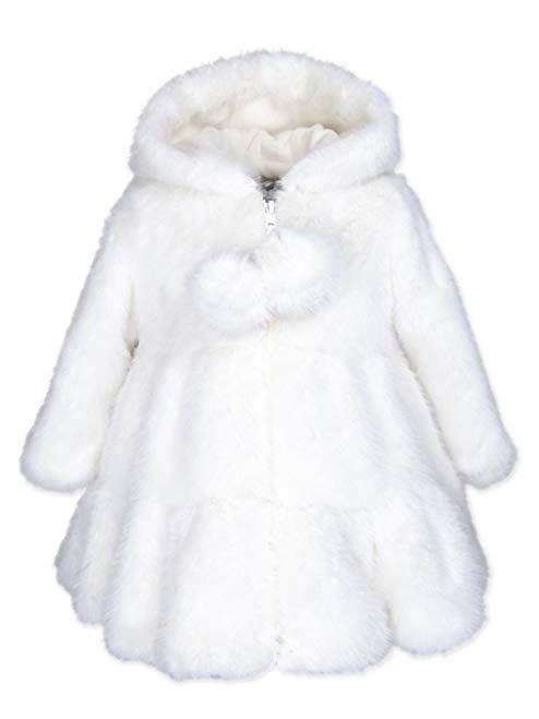 e2325b7dd3ab Widgeon Baby Girls Hooded Faux Fur Swing Coat 3674 Review