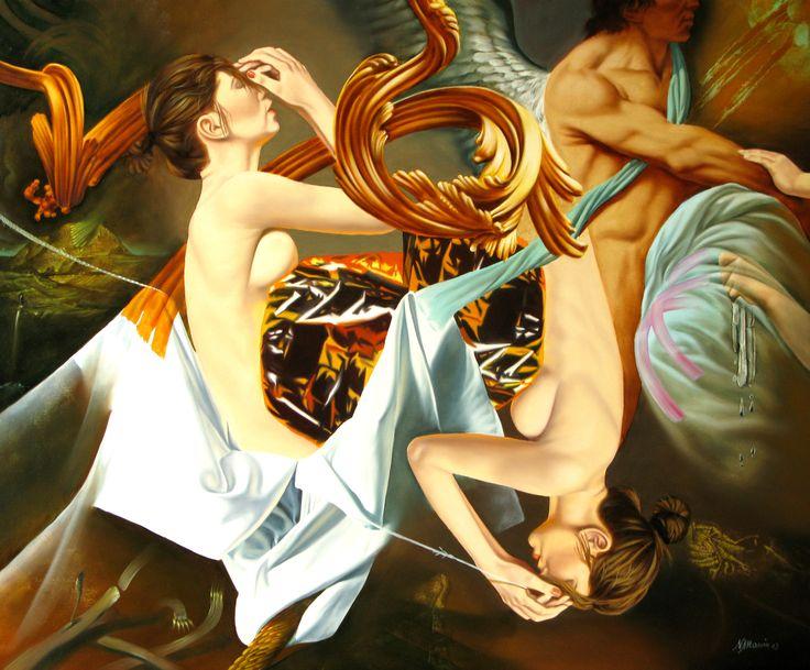 Original oil on canvas painting by the artist Nicolae Maniu - Paris Art Web