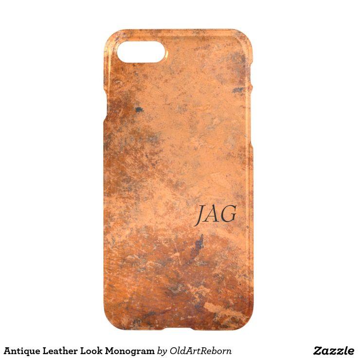 Antique Leather Look Monogram iPhone 7 Case