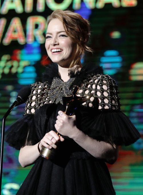 Emma Stone accepts the award for Best Actress for La La Land at The 6th AACTA International Awards on January 6, 2017 in Los Angeles, California.