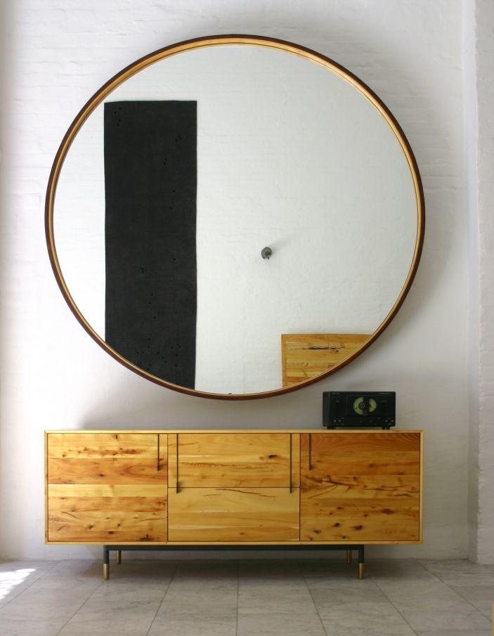 Leather Round Mirror