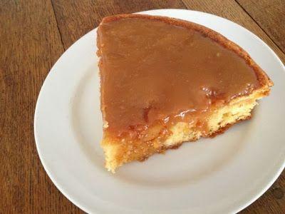 gâteau aux pommes au caramel beurre salé