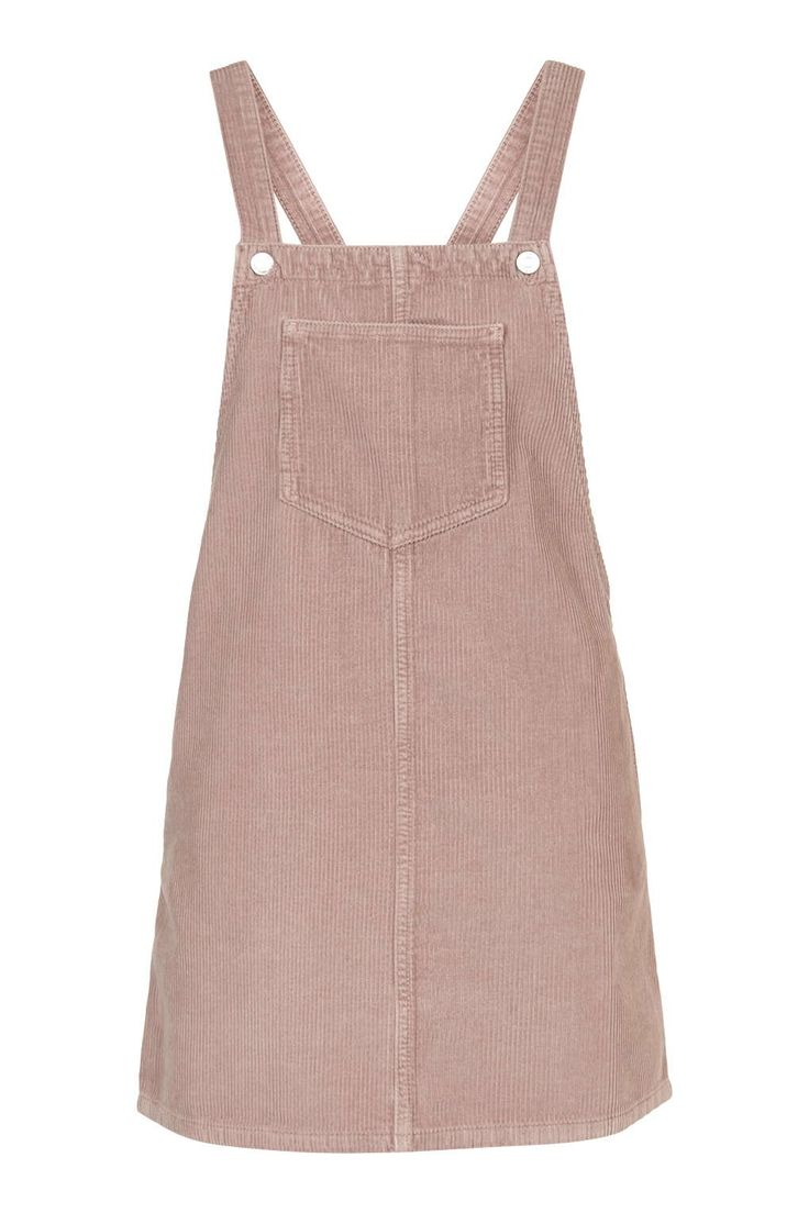 MOTO Pink Cord Pinafore Dress - Trending Now - New In - Topshop