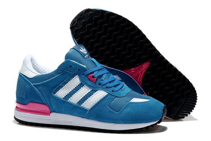 Adidas Women Men Originals ZX 700 Shoes Hero Blue White Solar Pink