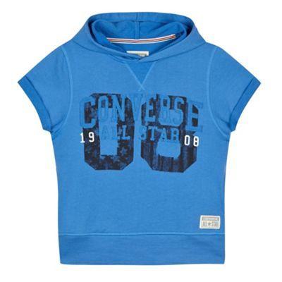 Converse Boy's blue short sleeved hoodie- at Debenhams.ie