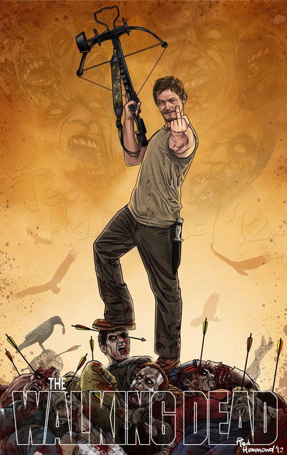 Daryl Dixon...Super badass! by Ted Hammond on ted1air.deviantart.com  #TheWalkingDead