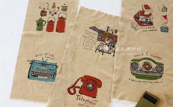 Винтаж телефон швейные машины DIY ткань занавеса подушки подушки мягкие ткани ручной работы, принадлежащий категории Ткань и относящийся к Промышленность и бизнес на сайте AliExpress.com | Alibaba Group