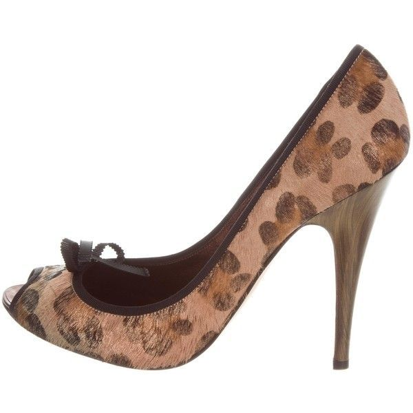6eec2e198e1 Pre-owned Giuseppe Zanotti Peep-Toe High Heel Pumps ( 175) ❤ liked ...