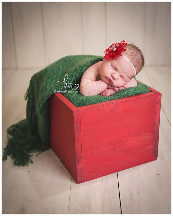 Sale painted wooden newborn photography box prop by kristeenmarie newborn photography prop newborn basket