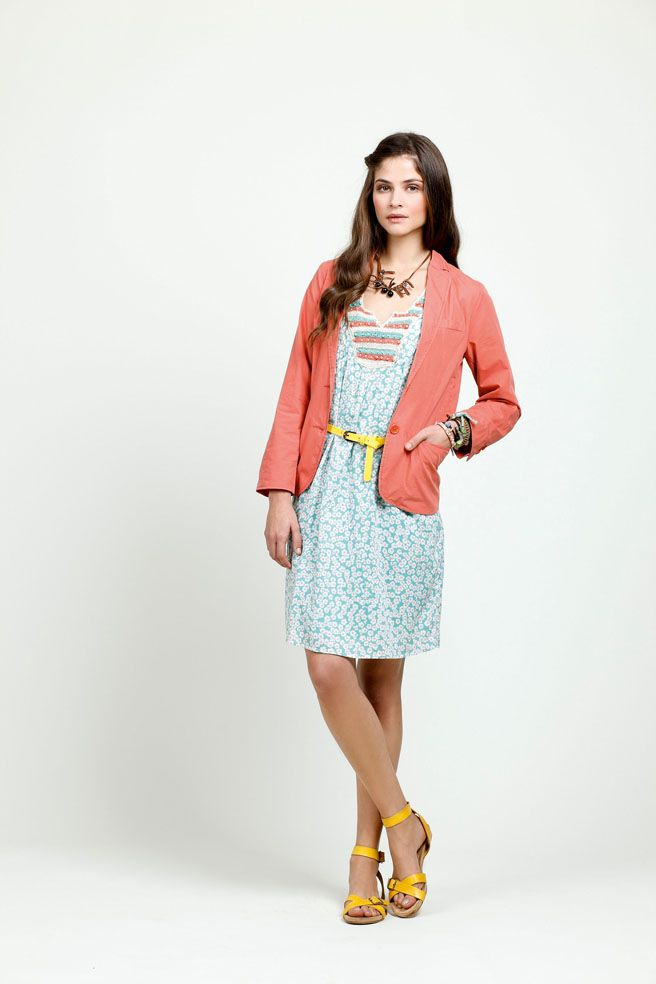 New in-store this week! Indi pretty print dress with peach jacket. Love! EB x