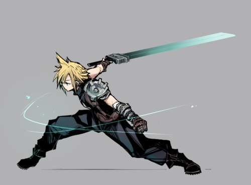 Every nerd board needs Final Fantasy love. Cloud Strife<3
