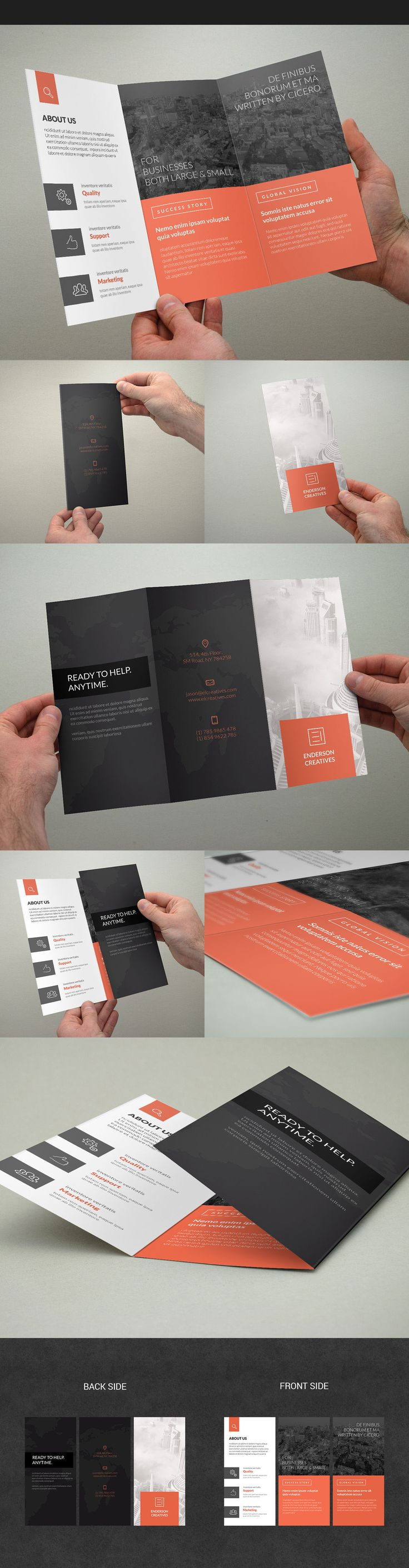 Minimal Multipurpose Trifold Brochure on Behance