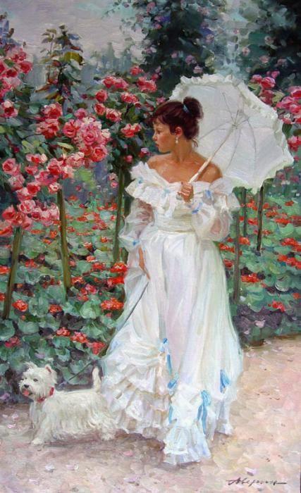 A Stroll in the Garden  ~Alexander Averin                                                                                                                                                                                 Mais