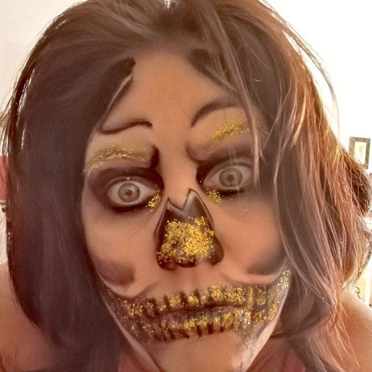 maquillage halloween paillette