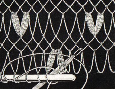 Schal in Filetarbeit mit Fransenabschluss | Handarbeitswelt